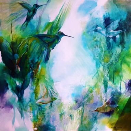 Hummingbirds Jeandre Marinier, South African Artist_filter
