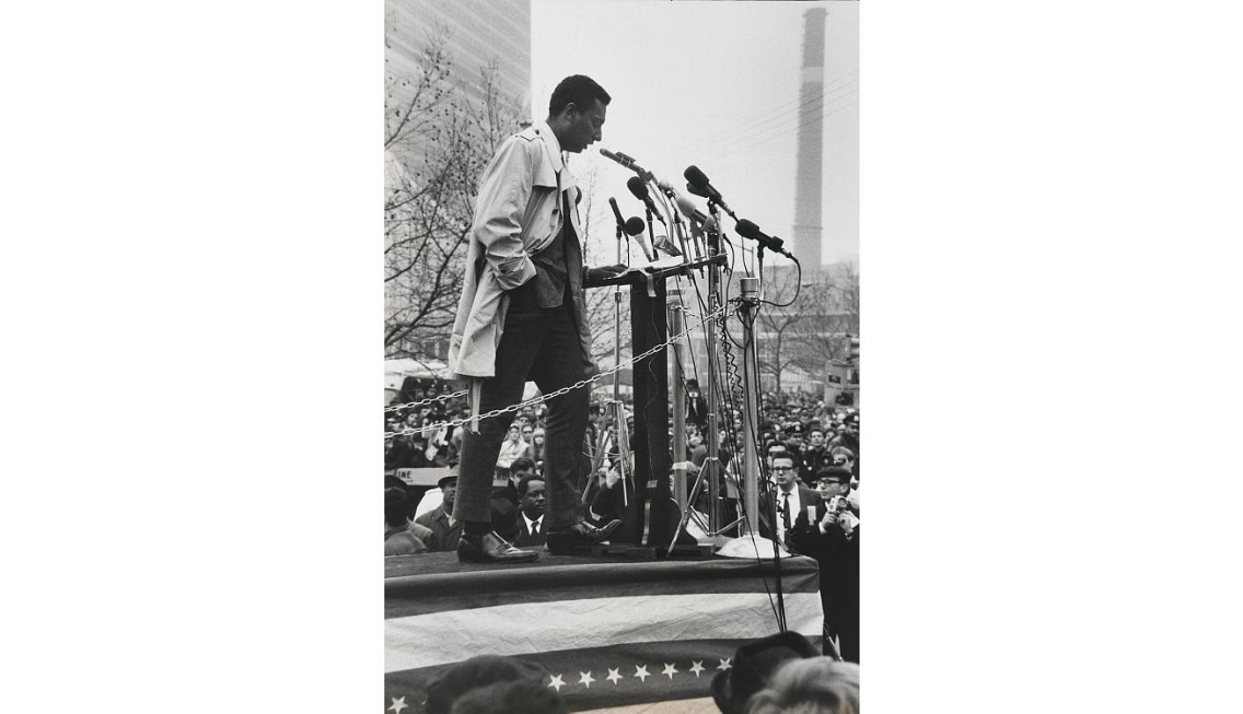 Stokely Carmichael - speaking in New York at a demonstration against the Vietnam War