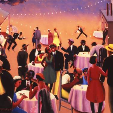 Archibald Motley art - Barbecue (c.1934), Photograph: collection of the Howard University Gallery of Art, Washington DC
