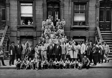 57 jazz musicians in Harlem. 1959, Esquire Magazine, Photographer: Art Kane