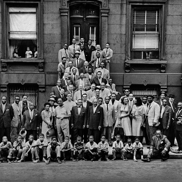 57 jazz musicians in Harlem. 1959, Esquire Magazine, Photographer: Art Kane