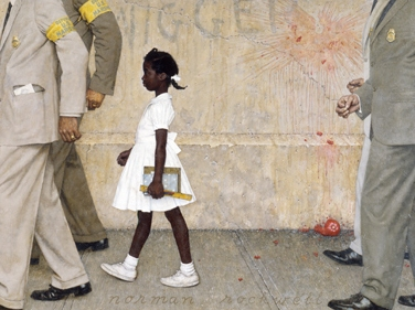 The Problem We All Live With, Norman Rockwell painting. 1964